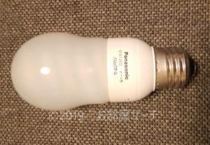 電球型蛍光灯の写真です。